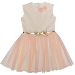 Brzoskiwniowa sukienka dla dziewczynki