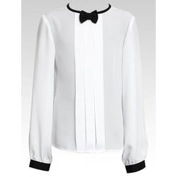 Biała bluzka z czarną kokardką - SLY
