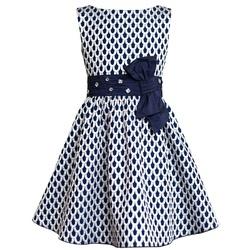 Granatowa sukienka w srebrne wzory - SLY