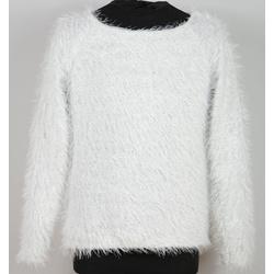 Sweterek dla dziewczynki biały- ANBOR
