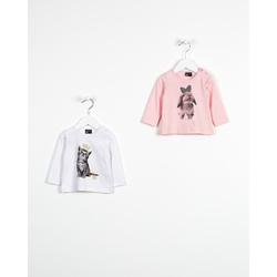 Różowa bluzka z króliczkiem LOSAN