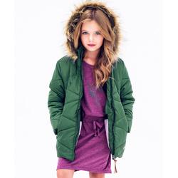 Zielona kurtka zimowa dla dziewczynki Nativo