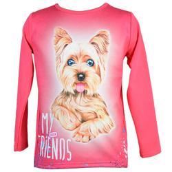 Różowa bluzka z pieskiem CARMEN