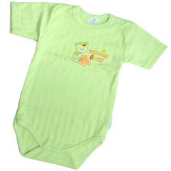 Body bawełniane z krótkim rękawem zielone