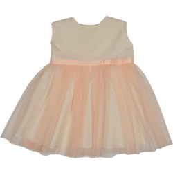 wizytowa sukienka w kolorze brzoskwini SUN