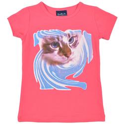 Bluzka dla dziewczynki z kotkiem
