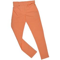 Spodnie brzoskwiniowe dla dziewczynki