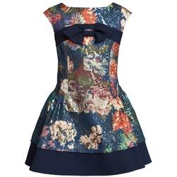 Sukienka w duże kwiatowe wzory - SLY