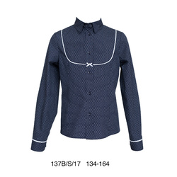Elegancka granatowa bluzka SLY