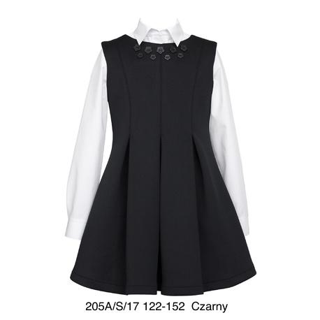 Czarna sukienka dziewczęca
