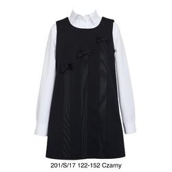 Czarna sukienka dla dziewczynki z kokardkami SLY