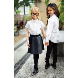 Elegancka bluzka dziewczęca z pięknym tyłem tiulowym SLY