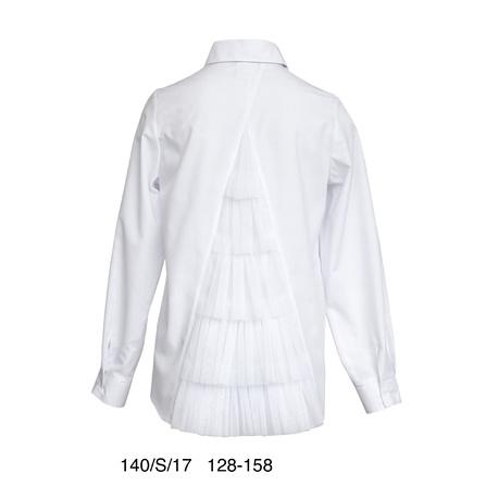 Elegancka bluzka dziewczęca z tyłem tiulowym
