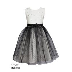 Elegancka sukienka w czarne kropeczki
