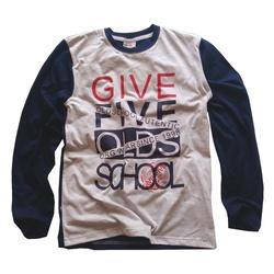 Szaro - granatowa bluza chłopieca