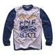 Biało - niebieska bluza dla chłopca