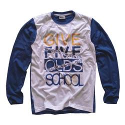 Biało - niebieska bluza dla chłopca GF-5