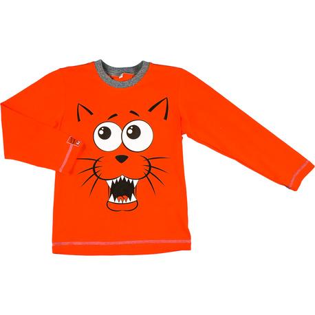 Pomarańczowa bluza chłopięca z kotem MMDadak