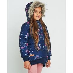 Granatowa kurtka zimowa dla dziewczynki NATIVO