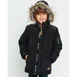 Czarna kurtka zimowa dla chłopca NATIVO