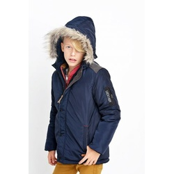 Granatowa kurtka zimowa dla chłopca NATIVO