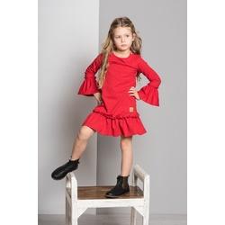 Sukienka Frilka czerwona - LUMIDE