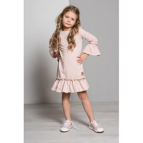 Sukienka Frilka pudrowy róż - LUMIDE