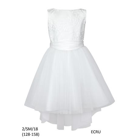 9bcecccc86 Sukienka dziewczęca ecru na komunię 2 SM 18 SLY