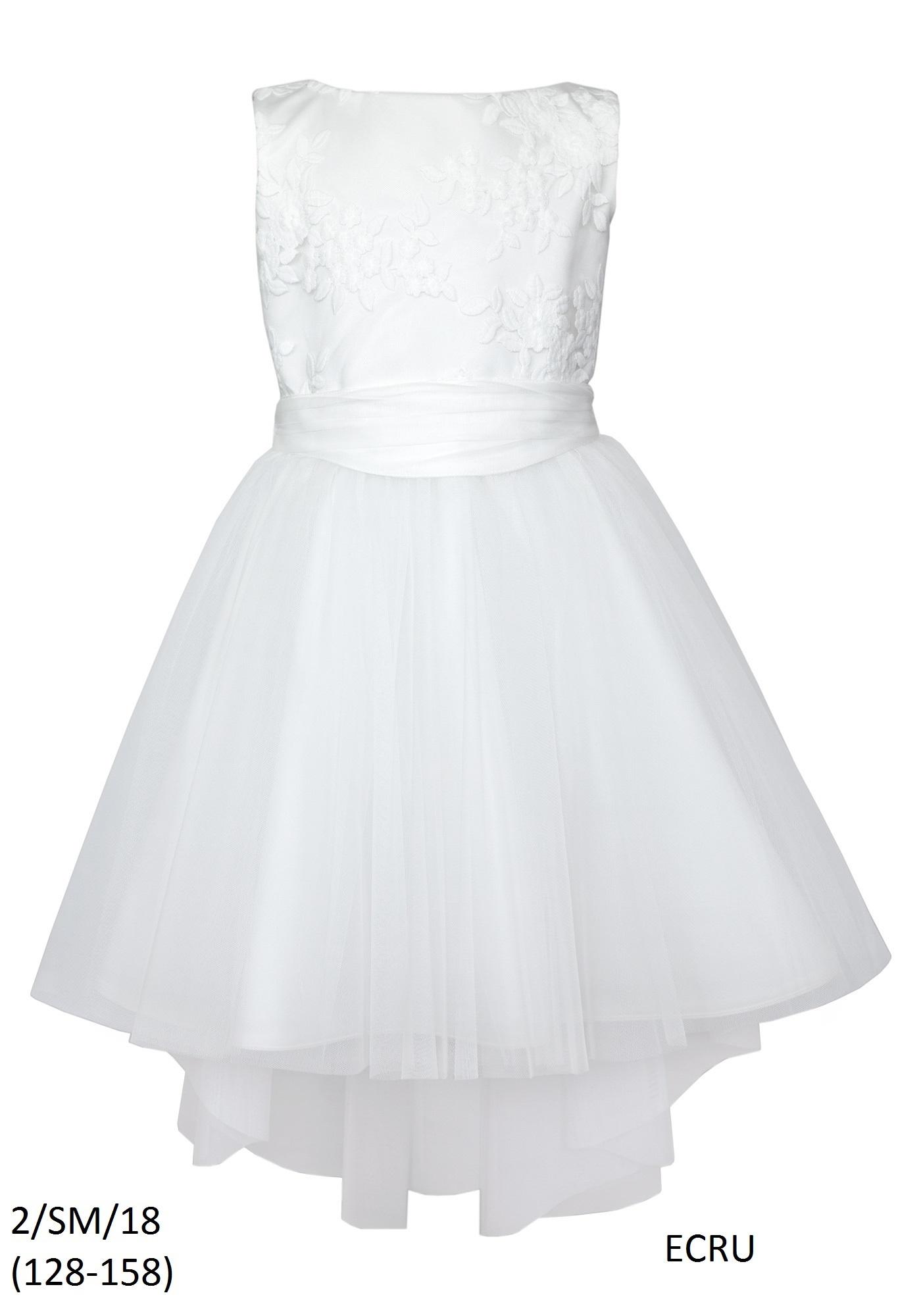 Sukienka Dziewczęca Ecru Na Komunię 2sm18 Sly