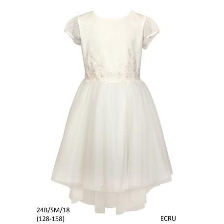 Pokomunijna Sukienka dla dziewczynki, 24B/SM/18, ecru, sklep