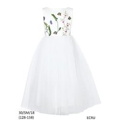 Sukienka dla dziewczynki ecru - SLY