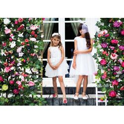 Wizytowa Sukienka dla Dziewczynki ecru - SLY