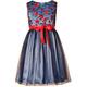 Sukienka z haftowanymi czerwonymi kwiatuszkami , wesela, sklep internetowy