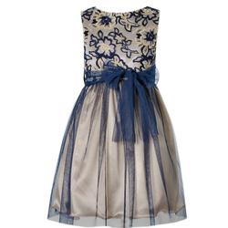 Sukienka złoto-granatowa,wizytowa,sklep internetowy