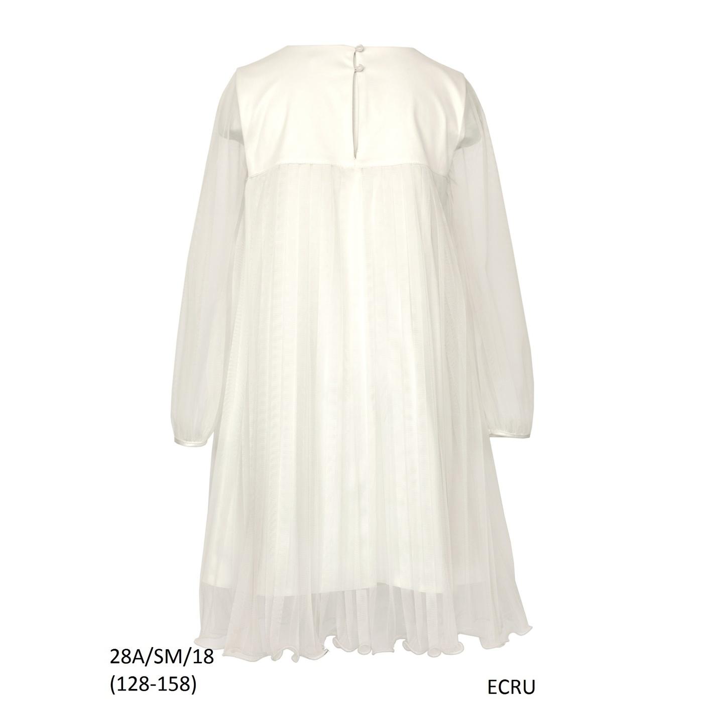 180d07039c Elegancka Sukienka dziewczęca na komunię 28a SM 18 ecru