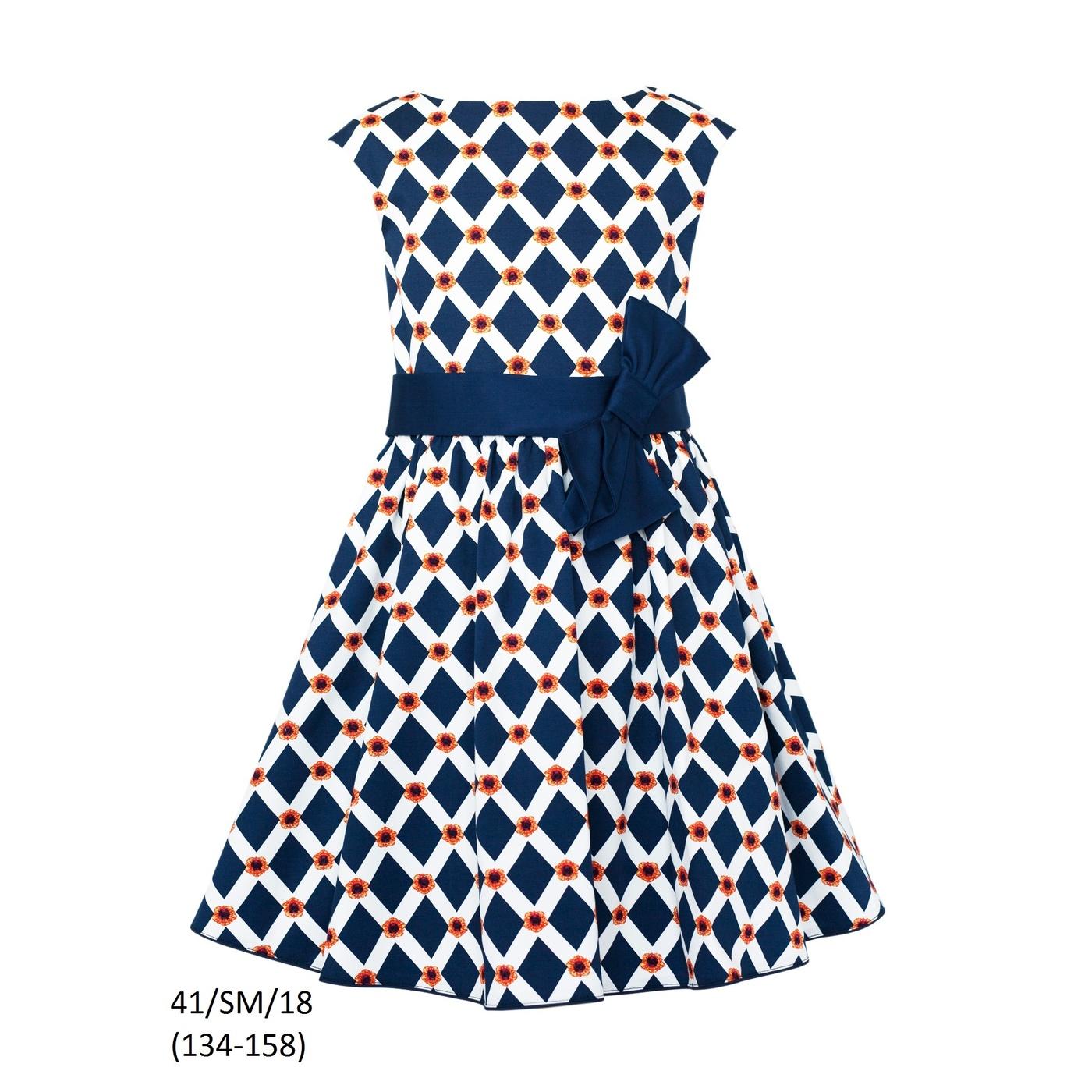 50dbc8cd56 Wyjątkowy Letnia sukienka dziewczęca SLY 41 SM 18  BL-52