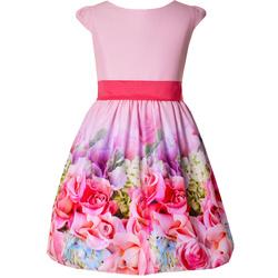 Pokomunijna sukienka w kwiatuszki, na wesela,sklep, różowa