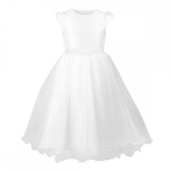 Sukienka Delfina biała, na komunię, sklep internetowy