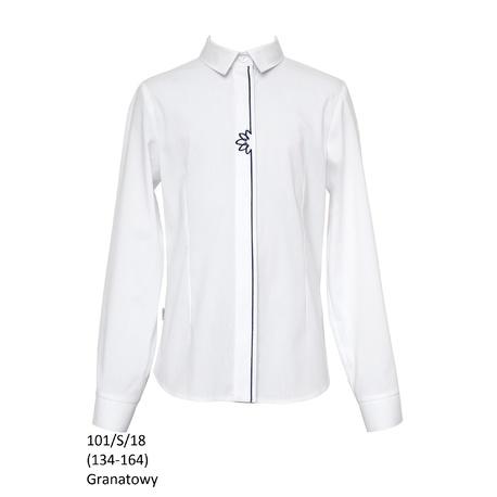 Bluzka szkolna dla dziewczynki 101/S/18,biała,SLY,sklep internetowy