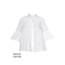 Elegancka bluzka dla dziewczynki, 102/S/18, z falbaną, SLY, wizytowa