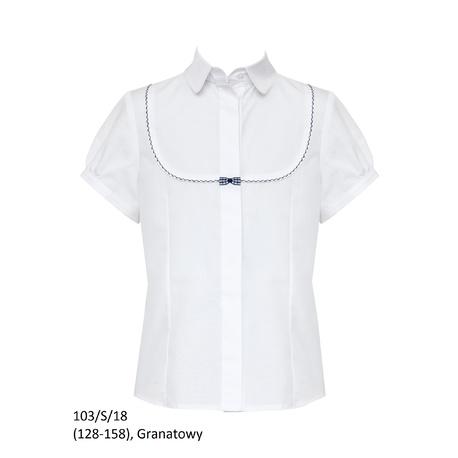 Bluzka szkolna 103/S/18,biała,SLY,wizytowa,krótki rękaw,sklep