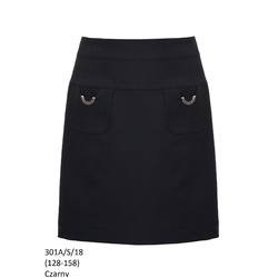Czarna spódnica dla dziewczynki 301A/S/18
