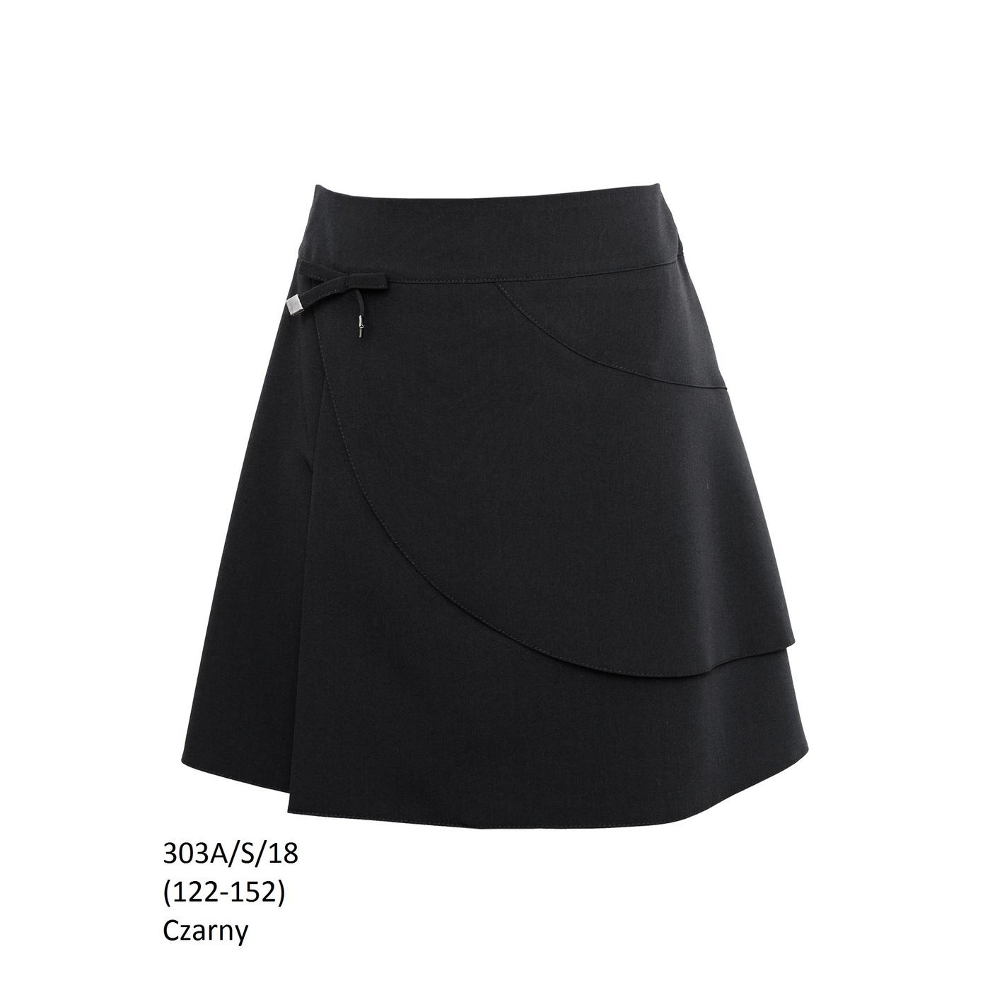 cada70bf Czarna spódniczka galowa 303A/S/18