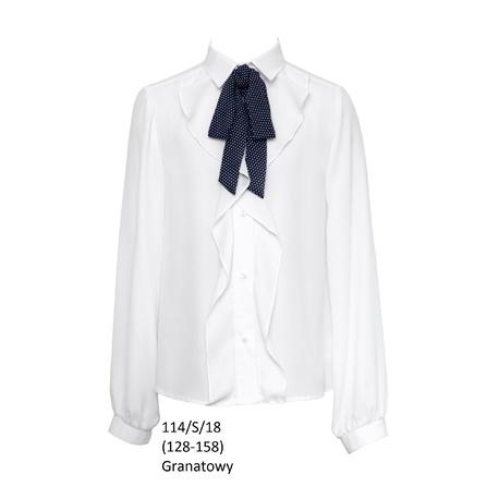 Wizytowa bluzka dla dziewczynki 114/S/18,szkolna,elegancka,sklep