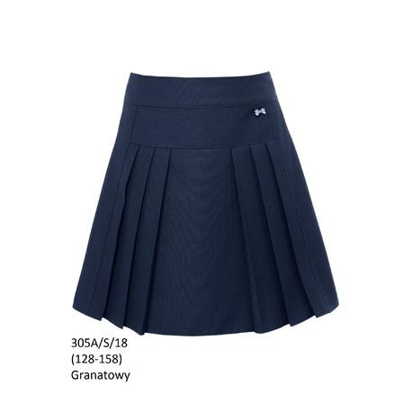 Spódnica plisowana granatowa 305A/S/18,SLY,szkolna,ubranka wizytowe