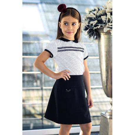Czarna spódnica dla dziewczynki 301A/S/18,szkolna,sklep internetowy