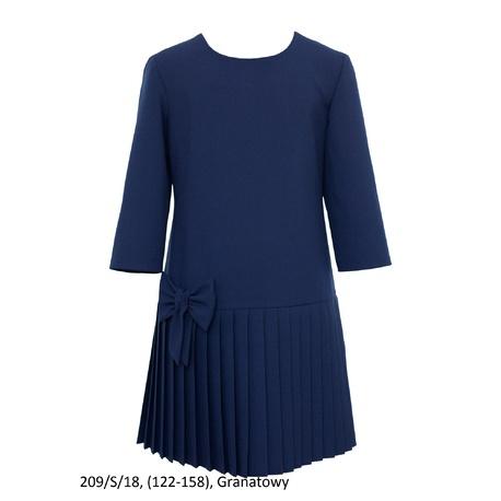Sukienka dziewczęca plisowana,wizytowa 209/S/18, szkolna, galowa, SLY, ubranka dla dzieci