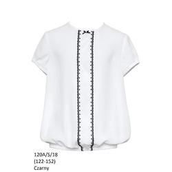 Bluzka Biała Szkolna Dziewczęca,wizytowa,okolicznościowa 120A/S/18