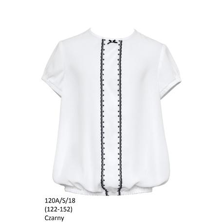 Bluzka Biała Szkolna Dziewczęca,wizytowa,okolicznościowa 120A/S/18,ubranka wizytowe