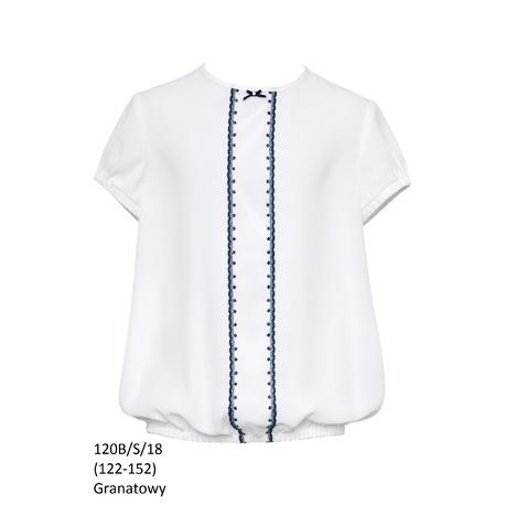 Bluzka Biała Szkolna Dziewczęca,wizytowa,okolicznościowa 120B/S/18,SLY, ubranka galowe